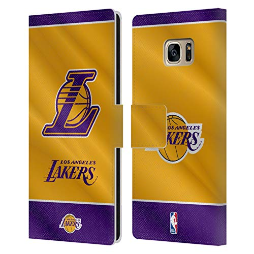 Head Case Designs Ufficiale NBA Banner 2019/20 Los Angeles Lakers Cover in Pelle a Portafoglio Compatibile con Samsung Galaxy S7 Edge