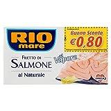 Rio Mare - Filetto di Salmone Al Naturale, Cotto al Vapore, Ricco di Omega 3, 1 lattina da 125g