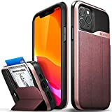 Vena vCommute Wallet Case Compatible with Apple iPhone 11 Pro (5.8'-inch 2019), (Military Grade Drop Protection) Flip Leather Cover Card Slot Holder with Kickstand - Rose Gold
