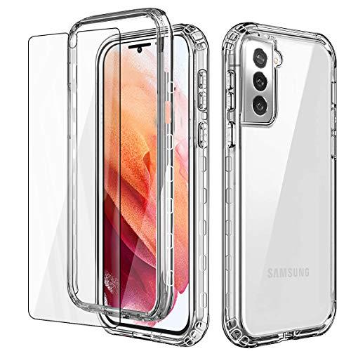 AICase Cover per Samsung Galaxy S21,Custodia per Samsung S21 5G 360 Gradi Rugged Cover Antiurti Protezione Resistente Trasparente Case per Samsung Galaxy S21 6.2''