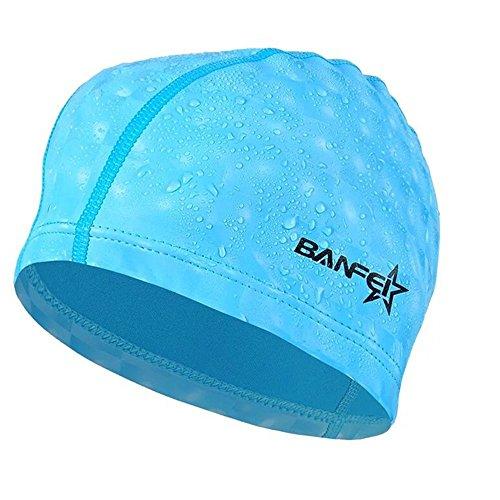 水泳キャップ 水泳帽 スイムキャップ 防水 スイミングキャップ PU塗装 水泳専門 伸縮性良い 男女適用 天?