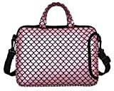 11.6-Inch Laptop Shoulder Messenger Carrying Bag Case Sleeve For 11' 11.6' 12' 12.5 inch Macbook/Notebook/Ultrabook/Chromebook, Mermaid Scale (Pink)
