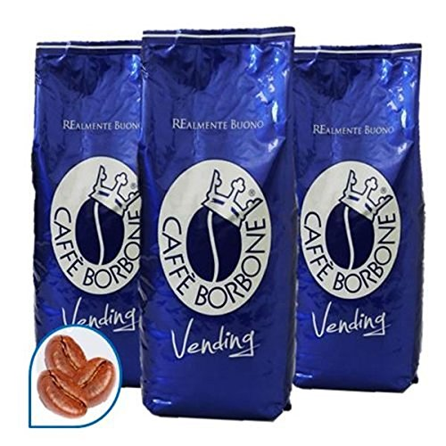 3x Caffe Borbone Vending Blue Blend Miscela 'Blu', 1000 g