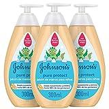 Johnson's Pure Protect - Jabón de manos 3 x 300 ml