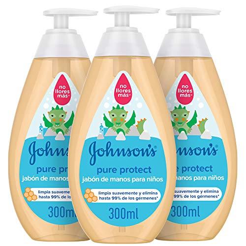 Johnson's Baby Pure Protect Jabón de Manos para Niños, 3 x 300 ml