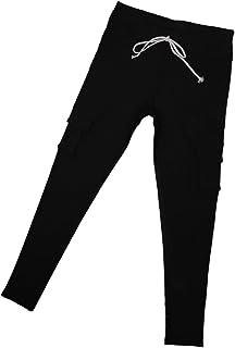 レディース ストレッチ ペンシルパンツ カジュアル マルチポケット パンツ ズボン 高弾性 5サイズ