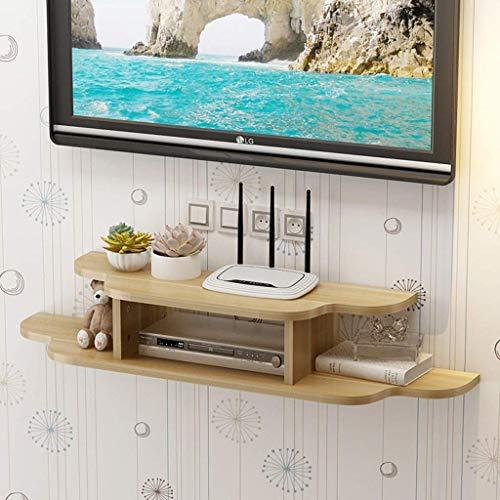Jsmhh Mural TV Flottant Support Media Console for routeur WiFi TV Box boîtier décodeur Haut-Parleur en Streaming périphérique de Jeu Console Support Mural étagère (Color : C, Size : 120cm)