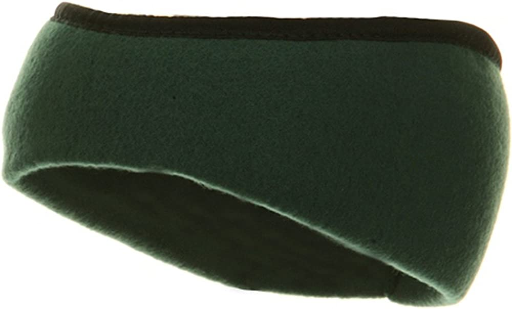 Earband With Binding - Forest Green