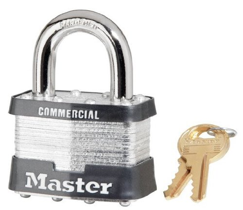 """24 Pack Master Lock 5KA-A389 2"""" Wide Keyed Alike Commercial Grade Laminated Padlock with 1"""" Shackle Height - Keyed to A389 Key Code"""