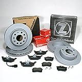 ZIMMERMANN Disques de frein 1ZF 1KD Coat Z/freins + plaquettes de frein pour avant + arrière