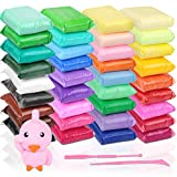 36 Colors Air Dry Clays, HNYYZL Lightweight Soft Magic DIY Modeling Clays with Tools, Great Present for Kids Craft, Stimulates Creativity & Imagination