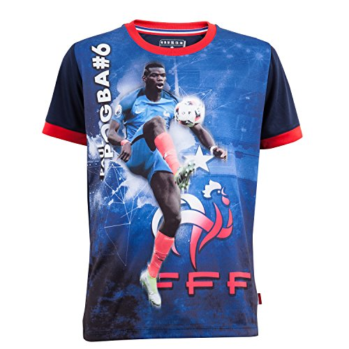 Equipe de France de Football Trikot FFF - Paul Pogba - Offizielle Kollektion der französischen Fußballnationalmannschaft - Kindergröße 12 Jahre blau