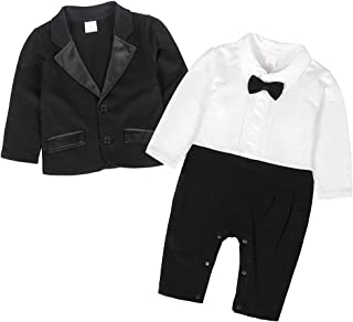 MetCuento Newborn Baby Boys Girls Romper Solid Color Cotton One Piece Pajamas Clothes 3-24 Months