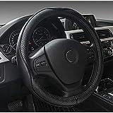 Qind1aS Cubierta universal para volante de coche 38 cm Carstyling Sport Auto Volante Cubiertas AntiSlip Accesorios Automotriz (negro)