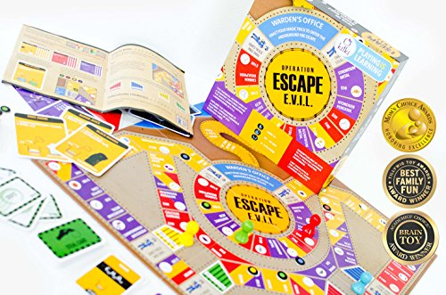 Kitki Escape Evil Fun STEM Board Game with Real Science Tricks & Trivia Toy for Girls & Boys
