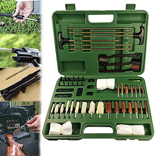 YNITJH Kit di Pulizia delle Armi Tutto in Uno 62 PCS Kit Professionale per la Pulizia delle Armi da Fuoco per Fucili a Pistola,con La Valigia,per la Maggior Parte dei Tipi di Fucile