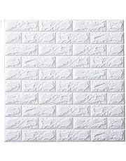 DIY立体壁紙 レンガ 防音シートウォールステッカー 3D 壁紙 軽量レンガシール 壁紙シール 自己粘着 防水 断熱 DIYクッション シー 北欧 タイル 60*60cm 10セット