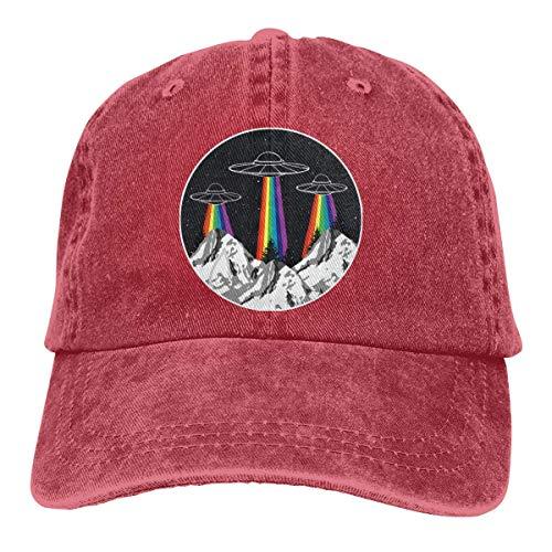 NA Baseball Cap for Men Women, LGBT Rainbow UFO Pride Mens Cotton Adjustable Jeans Cap Hat
