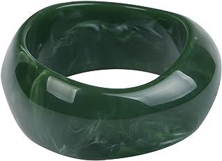 COLORFUL BLING Multiple Color Acrylic Resin Irregular Geometric Bangle Bracelet Tortoiseshell Acetate Mottled Wide Chunky ...