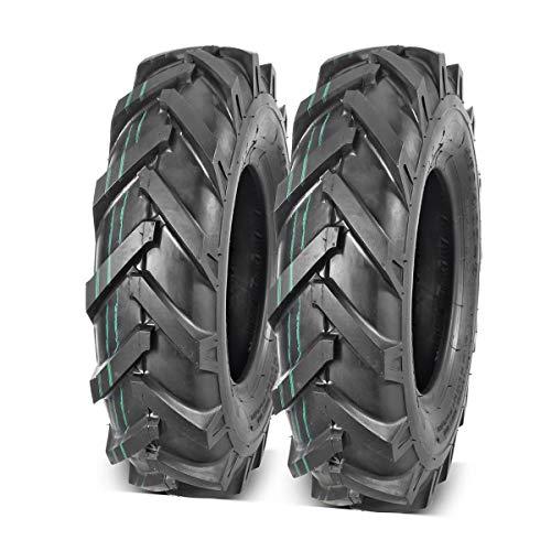 MaxAuto 2Pcs 4.80/4.00-8 Tires 4.80x4.00-8 8' Lawn Garden Tires 4.80x4.00x8 4.80-4.00-8 Turf Lawnmower Tractor Golf Cart Tubeless Tire