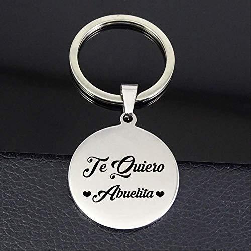 TUDUDU Te Quiero Abuela Schlüsselanhänger Neue Auflistung Scheibe Charm Schlüsselanhänger Schmuck Oma Drop Versand
