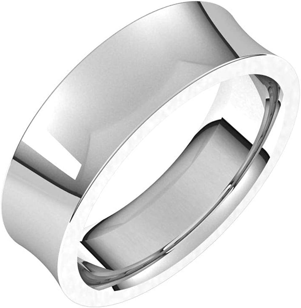 Tarnish Max 59% OFF Resistant Solid 925 Sterling Deluxe 6mm Silver Concave Comfort