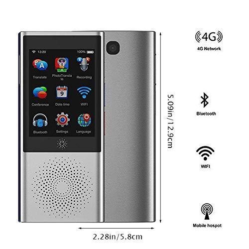 YJCol Voice Translator, Sprachübersetzer mit Kameraübersetzung, Unterstützung für 77 Sprachen SIM-Karte / 4G / WiFi/Offline / 8 GB Speicher Sofortübersetzung mit 2,8 Zoll Touchscreen