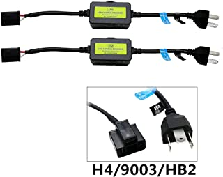 AnyCar Led Headlight Decoder H4 HB2 9003 Canbus Resistor Anti-flicker Harness Headlight Bulb Decoder for LED Headlight Warning (H4/HB2/9003)