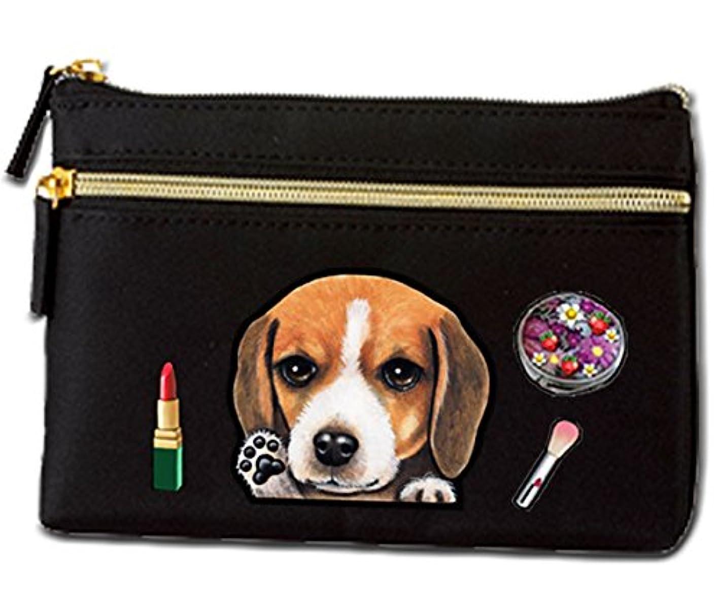 メールを書くパシフィックハイランド犬 ポーチ / ビーグル6/雑貨/グッズ/オリジナル