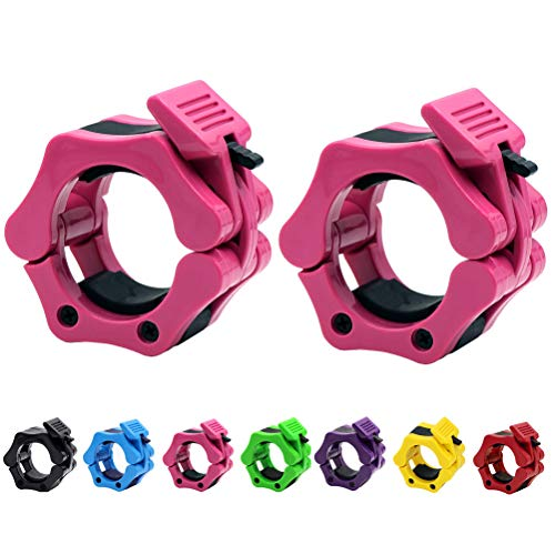 Strainho Olympic Weight Bar Clips - 2 inch Barbell Collars - Quick Release Olympic Barbell Clamp for...