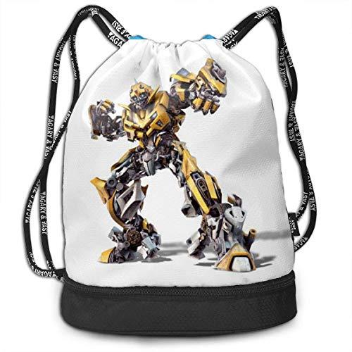 Bumblebee Bundle Kordelzug Rucksack für Fitness-SportString Bag School Yoga Kinder Mens und Womens Travelling Bac
