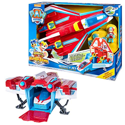 PAW PATROL 6053098 Super Paws -  2-in-1 Jet Command Center con luci e Suoni (2019).