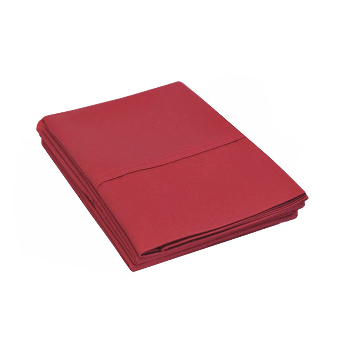 800 Thread Count, 100% Cotton, Single Ply, 2-Piece King Pillowcase Set, Solid, Burgundy