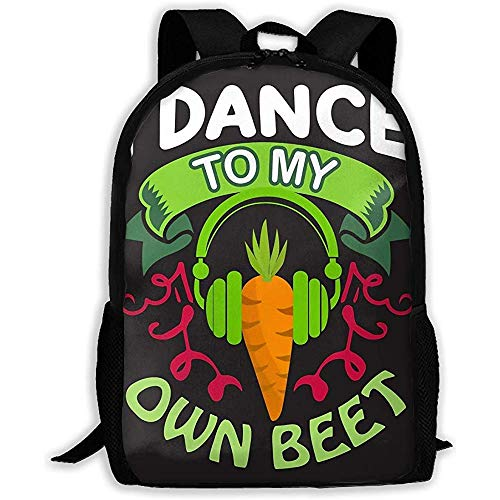 huatongxin Backpack Vegan Quote I Dance to My Own Beer Bookbag Casual Travel Bag for Teen Boys Girls