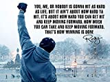 Rocky Inspired Inspirational Quote Poster (18 x 24 Inches)