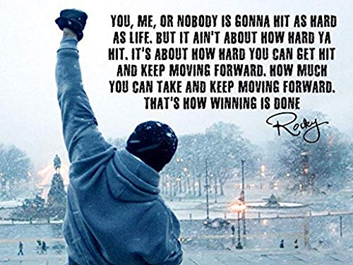 Rocky Inspired Inspirational Quote Poster (18 x 24...