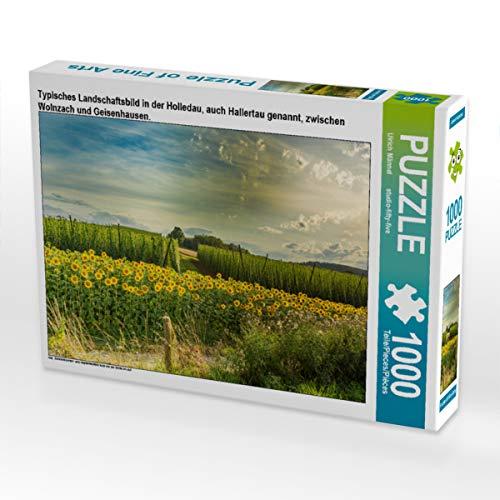 CALVENDO Puzzle Typisches Landschaftsbild in der Holledau, auch Hallertau genannt, zwischen Wolnzach und Geisenhausen. 1000 Teile Lege-Größe 64 x 48 cm Foto-Puzzle Bild von Studio-Fifty-Five