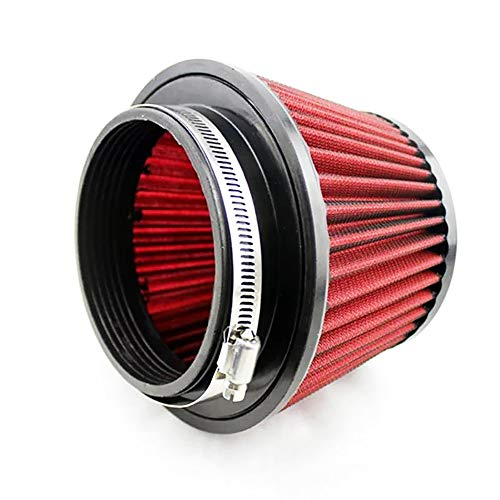 QREAEDZ Filtro de Aire Deportivo 115 mm de admisión de automóviles Reutilizable Modificado Cabezal Lavable Auto Filtro de Aire (Color : Red)