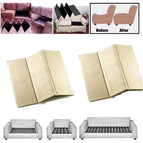Rejuvenecedor de sillones de lujo, soporte para sofás de 1-2-3 asientos de Comfylot Ltd, crema, 3 Seater