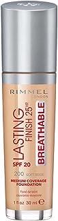 Best Rimmel London Lasting Finish Breathable Foundation, 200 Soft Beige, 30 ml Review