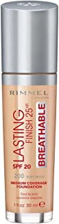 Rimmel London Lasting Finish Breathable Foundation, 200 Soft Beige, 30 ml