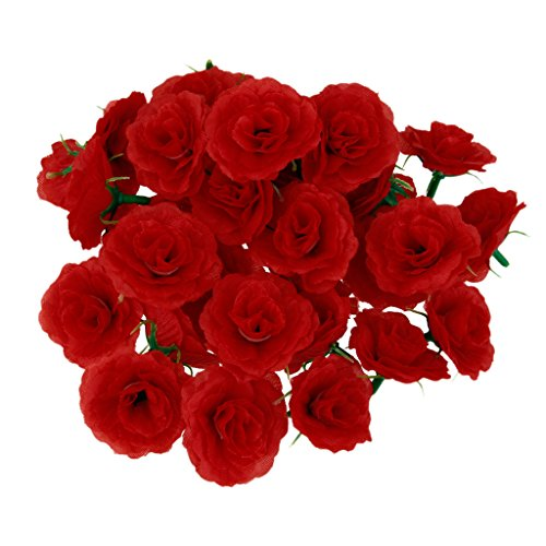Artificial Mini Rose Heads Bouquet Decor Wedding Home Beautiful Flower-50Pcs