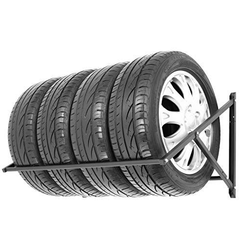 Stillerbursch Reifenregal Felgenbaum Reifenhalter Reifenwandhalter Felgenregal für 4 Räder