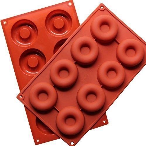 Molde de silicona para donuts con 8 agujeros