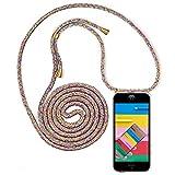 YuhooTech Funda con Cuerda Compatible con iPhone 8 Plus - Carcasa Transparente TPU Suave Silicona Case Cubierta con Colgante Ajustable Collar Correa de Cuello Cadena Cordón Cover