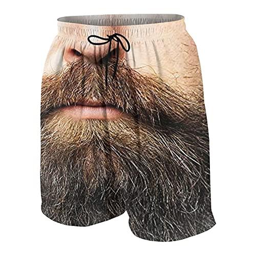 FDGJNB Pantalones cortos de natación para hombre de secado rápido con forro de malla para playa, deportes de surf