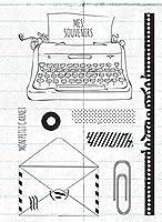 フレンチクリアシリコンスタンプ/DIYスクラップブッキング用シール/アルバム装飾クリアスタンプシートA388
