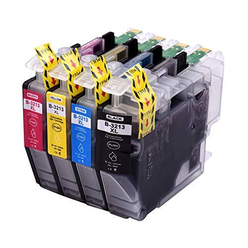 Topuality Cartuchos de tinta compatibles con de repuesto para Brother LC-3213 LC-3211 LC3213 LC3211 Compatible con Brother MFC-J491DW DCP-J772DW MFC-J890DW DCP-J572DW MFC-J497DW DCP-J774DW MFC-J895DW