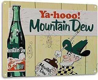Mountain Dew Soda Pop Store Advertising Vintage Retro Wall Decor Metal Tin Sign TIN Sign 7.8X11.8 INCH