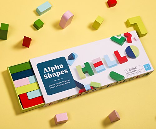 Chronicle Books: Alpha Shapes: Colourful Wooden Blocks to Create Letters and Words